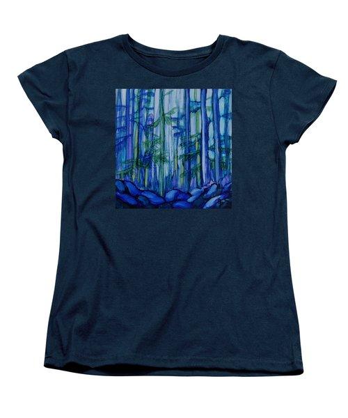 Moonlit Forest Women's T-Shirt (Standard Cut) by Joanne Smoley