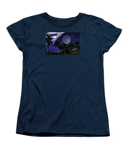 Moon Over Belize Women's T-Shirt (Standard Cut)