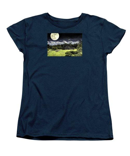 Moon Over Mayan Temple One Women's T-Shirt (Standard Cut)
