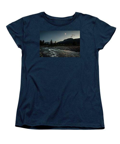 Moon Over Montana Women's T-Shirt (Standard Cut)
