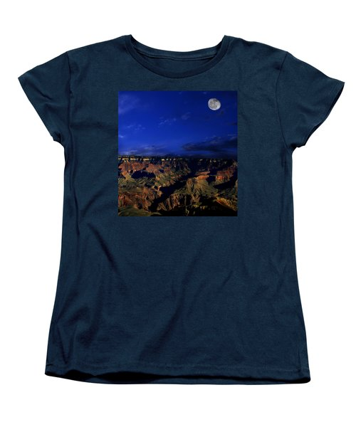 Moon Over The Canyon Women's T-Shirt (Standard Cut)