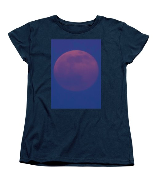 Women's T-Shirt (Standard Cut) featuring the photograph Moon Rise Blue by Michael Nowotny