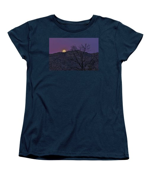Moon Set At Sunrise Women's T-Shirt (Standard Cut)