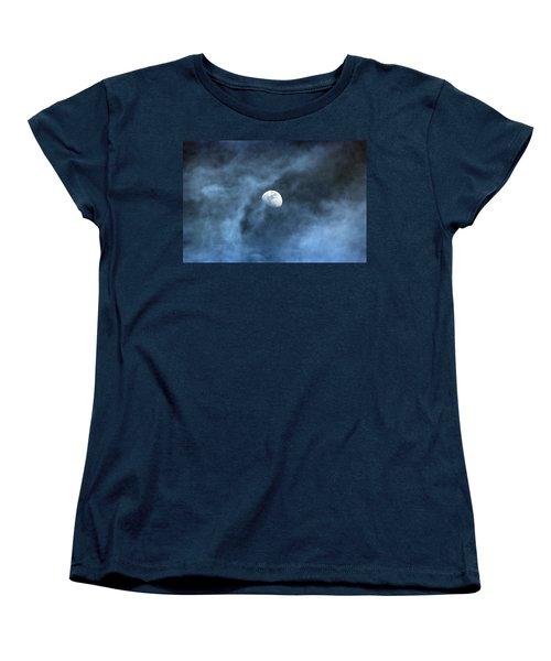 Moon Smoke Women's T-Shirt (Standard Cut) by David Stasiak
