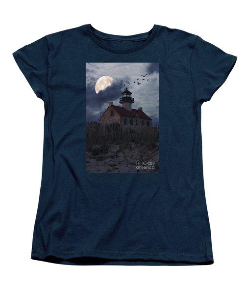 Moonlight At East Point Women's T-Shirt (Standard Cut) by Debra Fedchin