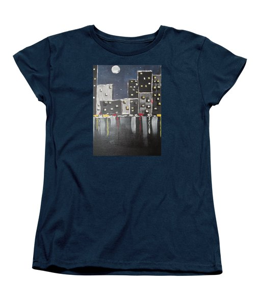 Women's T-Shirt (Standard Cut) featuring the painting Moonlighters by Sharyn Winters