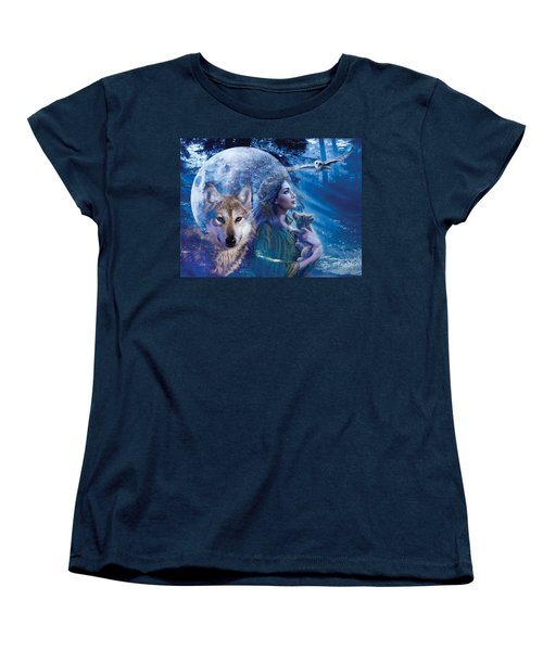 Moonlit Brethren Variant 1 Women's T-Shirt (Standard Cut) by Andrew Farley