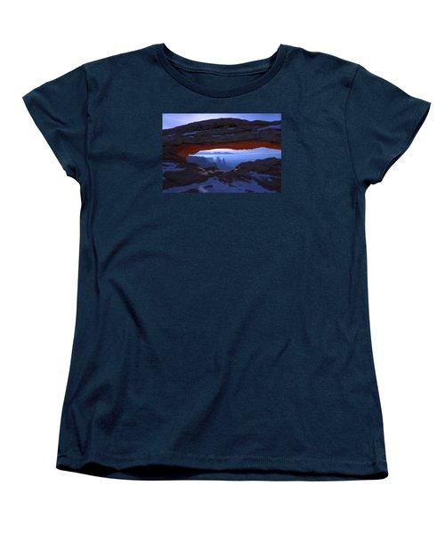 Women's T-Shirt (Standard Cut) featuring the photograph Moonlit Mesa by Chad Dutson