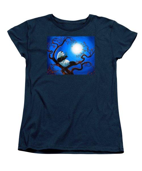 Moonlit Snack Women's T-Shirt (Standard Cut) by Laura Iverson