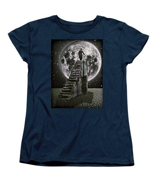 Moonrise Women's T-Shirt (Standard Cut) by Mihaela Pater