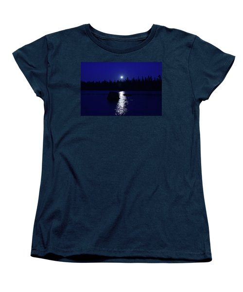Moonrise On A Midsummer's Night Women's T-Shirt (Standard Cut) by David Porteus