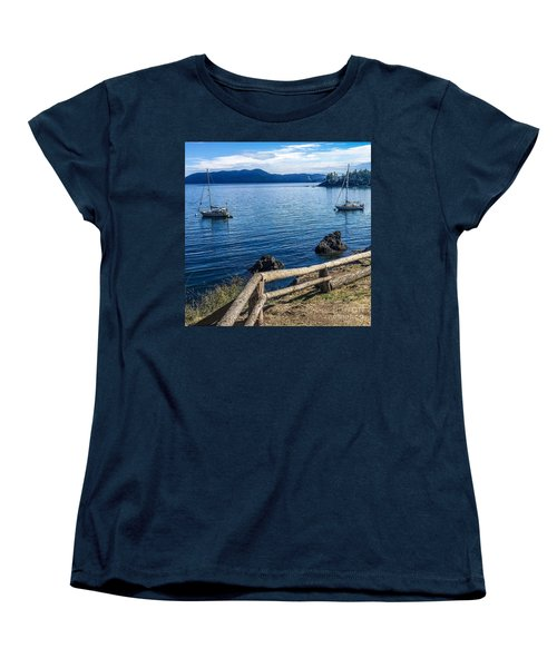 Women's T-Shirt (Standard Cut) featuring the photograph Mooring In Doe Bay by William Wyckoff