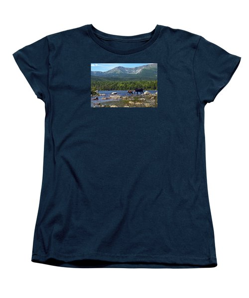 Moose Baxter State Park Maine 2 Women's T-Shirt (Standard Cut)