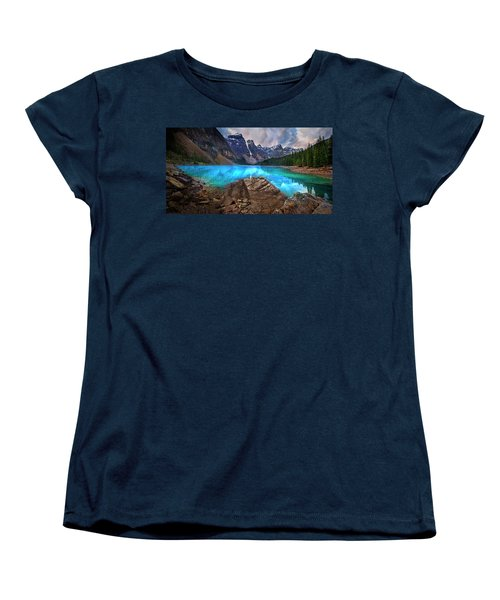 Women's T-Shirt (Standard Cut) featuring the photograph Moraine Lake by John Poon