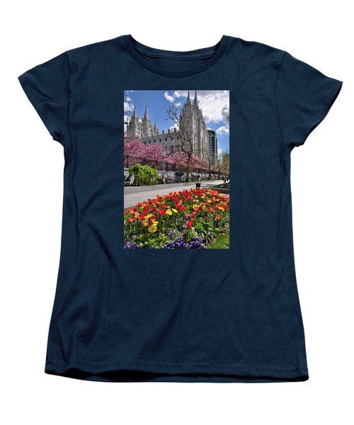 Mormon Temple Women's T-Shirt (Standard Cut) by Utah Images