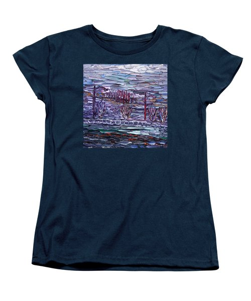 Morning At Sayreville Women's T-Shirt (Standard Cut) by Vadim Levin