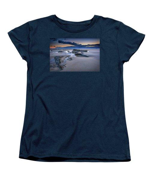 Women's T-Shirt (Standard Cut) featuring the photograph Morning Calm On Wells Beach by Rick Berk