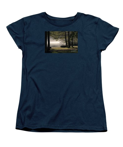 Women's T-Shirt (Standard Cut) featuring the photograph Morning Fog by Inge Riis McDonald