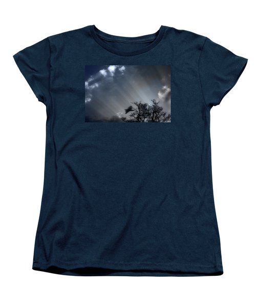 Women's T-Shirt (Standard Cut) featuring the photograph Morning  by Gray  Artus