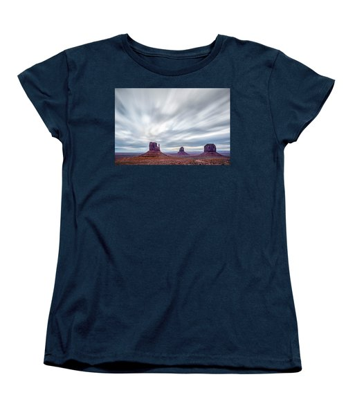 Women's T-Shirt (Standard Cut) featuring the photograph Morning In Monument Valley by Jon Glaser