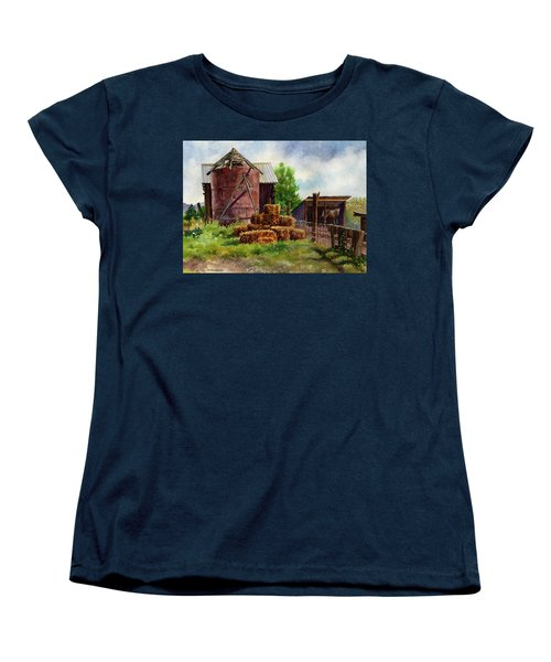 Women's T-Shirt (Standard Cut) featuring the painting Morning On The Farm by Anne Gifford
