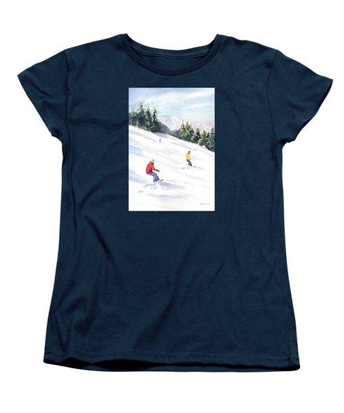 Morning On The Mountain Women's T-Shirt (Standard Cut) by Vikki Bouffard