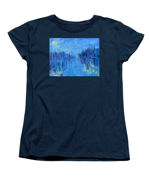 Women's T-Shirt (Standard Cut) featuring the painting Morning On The Point by Betty Pieper