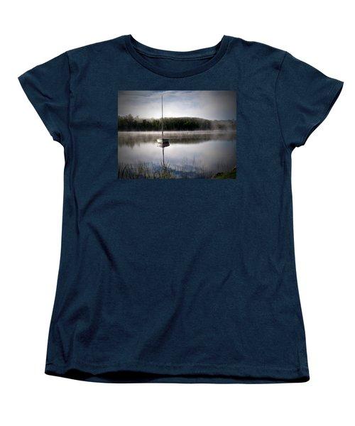 Morning On White Sand Lake Women's T-Shirt (Standard Cut) by Lauren Radke