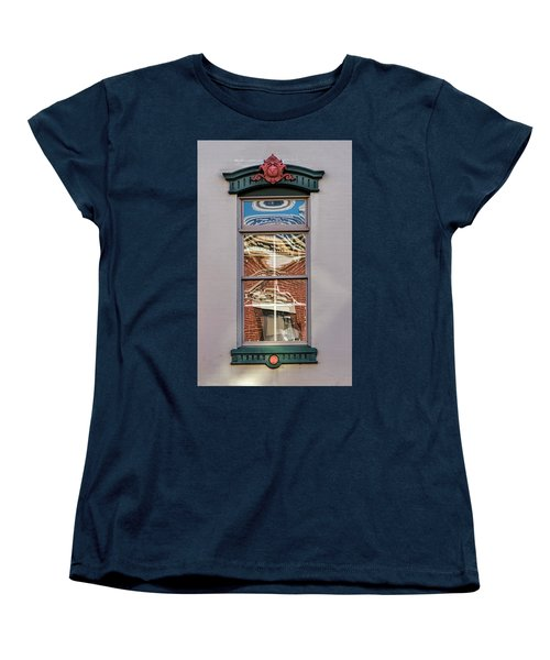 Morning Reflection In Window Women's T-Shirt (Standard Cut) by Gary Slawsky
