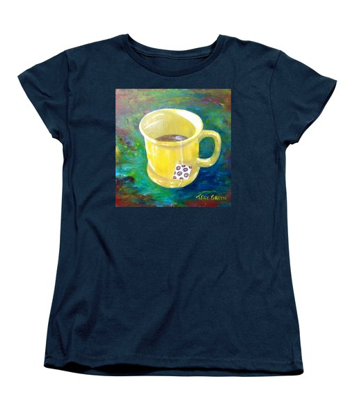 Morning Tea Women's T-Shirt (Standard Cut) by T Fry-Green