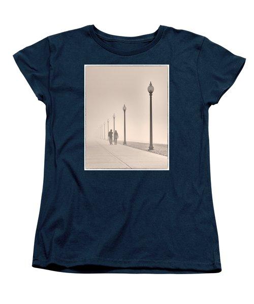 Morning Walk Women's T-Shirt (Standard Cut) by Don Spenner