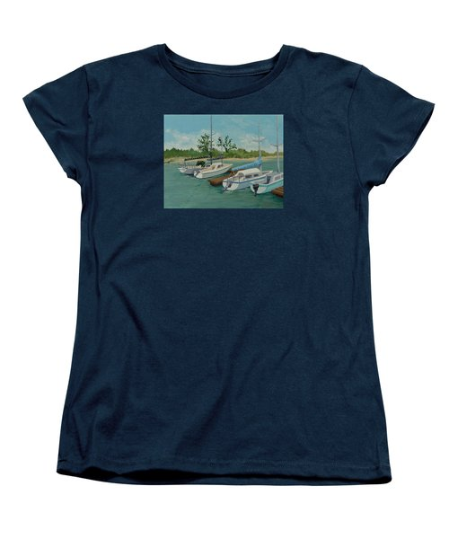 Women's T-Shirt (Standard Cut) featuring the painting Morro Bay State Park Ca by Katherine Young-Beck