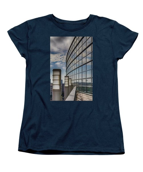 Women's T-Shirt (Standard Cut) featuring the photograph Moscone West Balcony by Darcy Michaelchuk