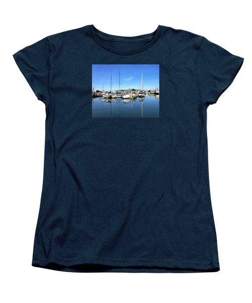 Moss Landing Harbor Women's T-Shirt (Standard Cut) by Amelia Racca