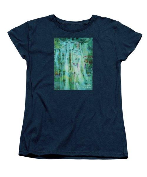 Mossy Falls Women's T-Shirt (Standard Cut) by Elizabeth Carr