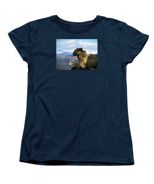 Mother And Lamb Women's T-Shirt (Standard Cut) by RKAB Works