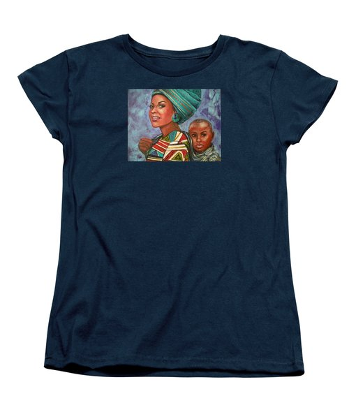 Mother And Son Women's T-Shirt (Standard Cut) by Alga Washington