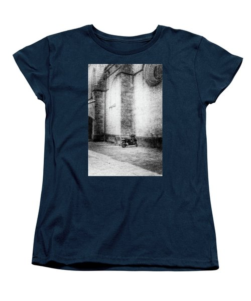 Motorcycles Also Like To Pray Women's T-Shirt (Standard Cut) by Celso Bressan