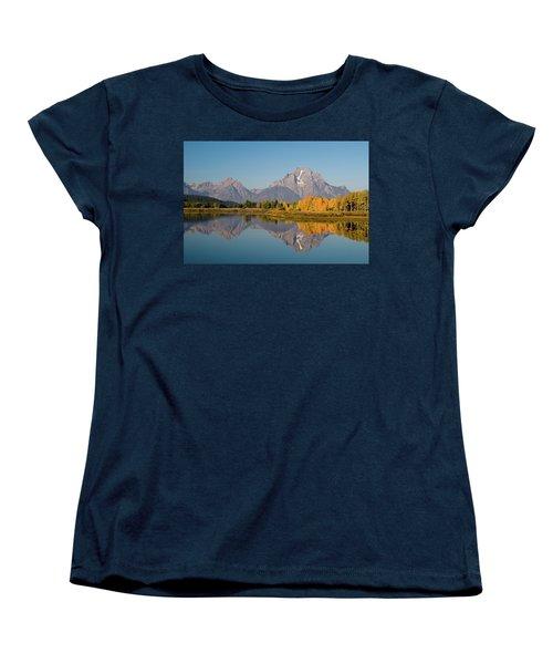 Women's T-Shirt (Standard Cut) featuring the photograph Mount Moran by Steve Stuller