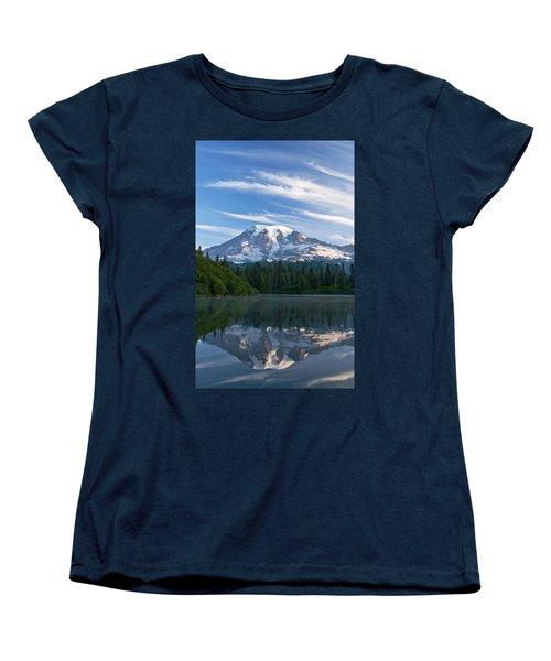 Mount Rainier Reflections Women's T-Shirt (Standard Cut) by Greg Vaughn - Printscapes