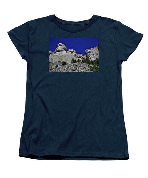 Women's T-Shirt (Standard Cut) featuring the photograph Mount Rushmore 007 by George Bostian