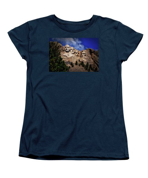 Mount Rushmore 008 Women's T-Shirt (Standard Cut) by George Bostian