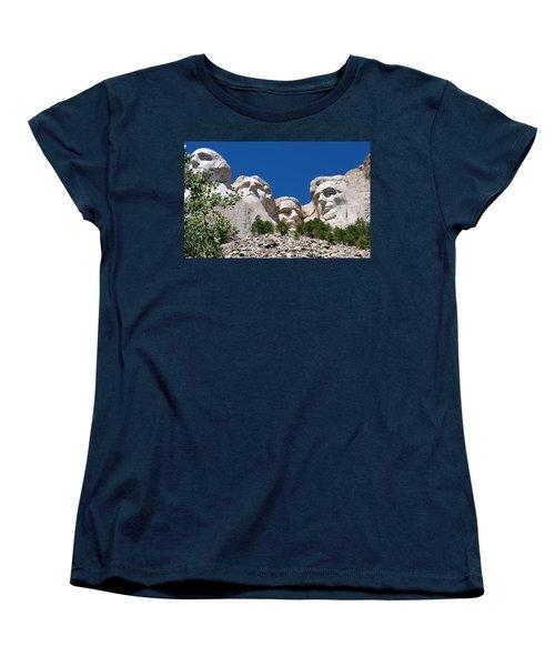 Mount Rushmore Close Up View Women's T-Shirt (Standard Cut) by Matt Harang