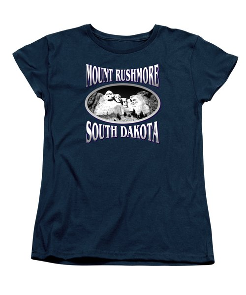 Mount Rushmore South Dakota - Tshirt Design Women's T-Shirt (Standard Cut) by Art America Gallery Peter Potter
