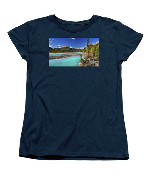 Women's T-Shirt (Standard Cut) featuring the photograph Mount Saskatchewan by John Poon