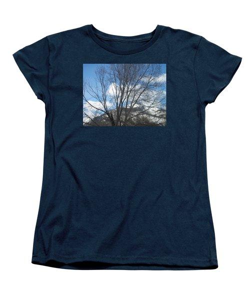 Mountain Backdrop Women's T-Shirt (Standard Cut) by Jewel Hengen