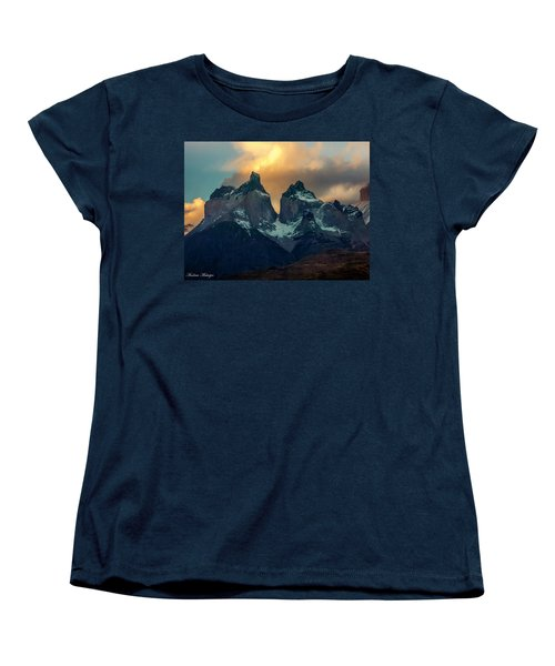 Women's T-Shirt (Standard Cut) featuring the photograph Mountain Evening by Andrew Matwijec