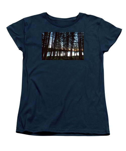 Women's T-Shirt (Standard Cut) featuring the photograph Mountain Forest Lake by James BO Insogna