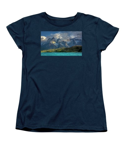 Women's T-Shirt (Standard Cut) featuring the photograph Mountain Glimmer by Andrew Matwijec