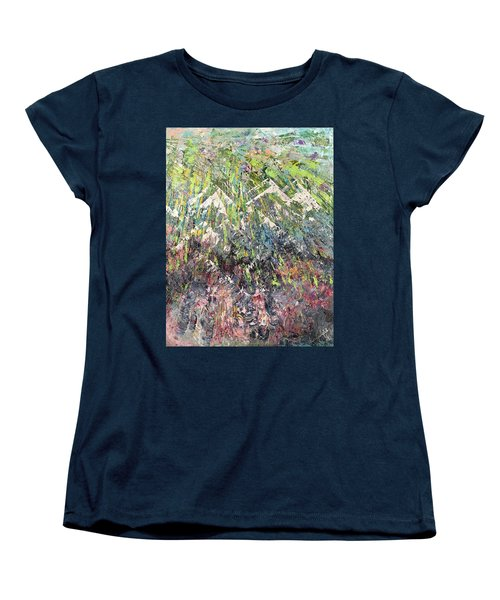 Mountain Of Many Colors Women's T-Shirt (Standard Cut) by George Riney